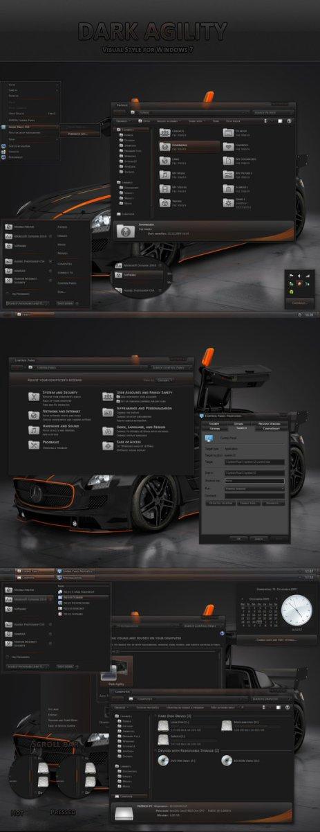Dark Agility VS Windows 7 Theme