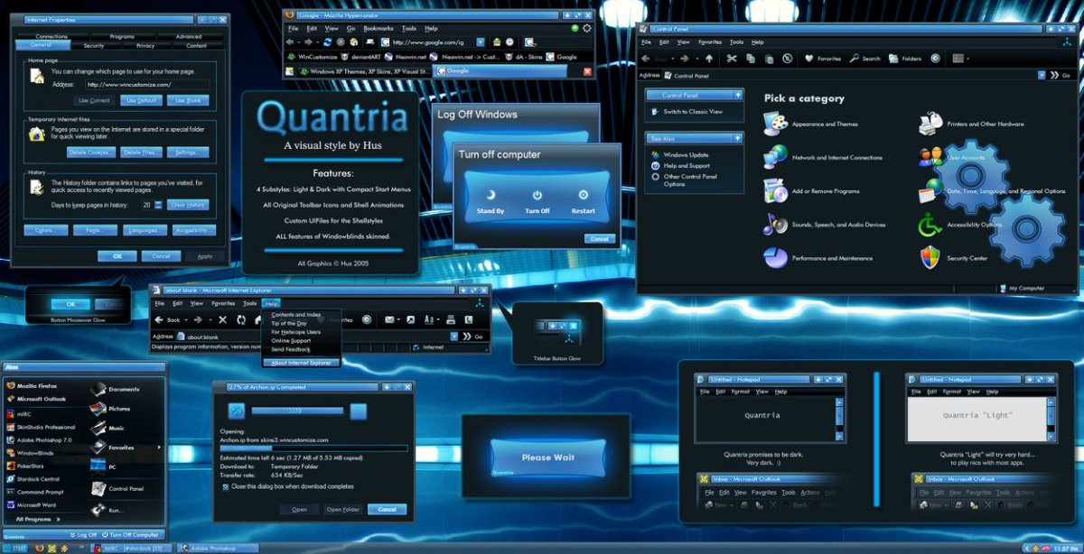 Quantria WB Windows XP Theme