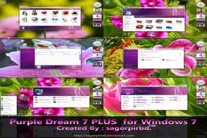 Purple Dream Visual Style For Windows Seven