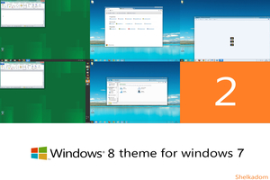 Windows 8 Visual Style Seven Theme